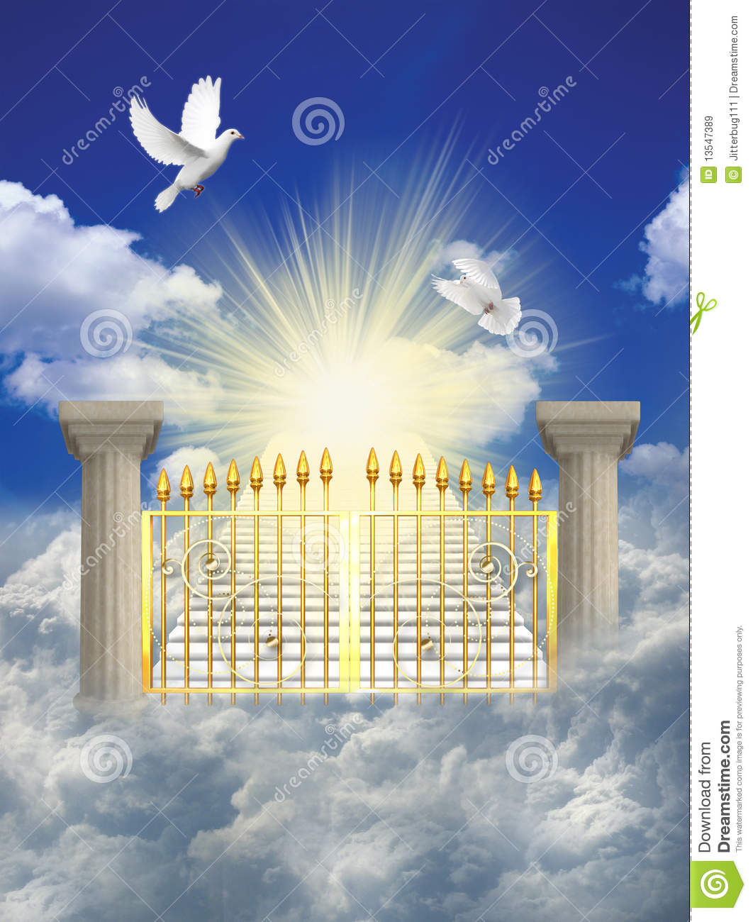 hight resolution of heaven clipart