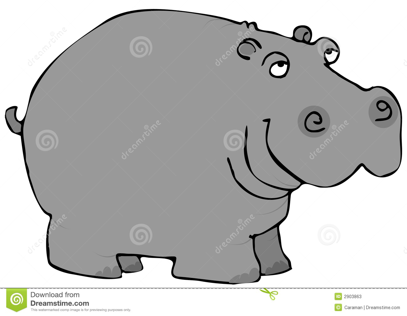 hight resolution of hippo clipart