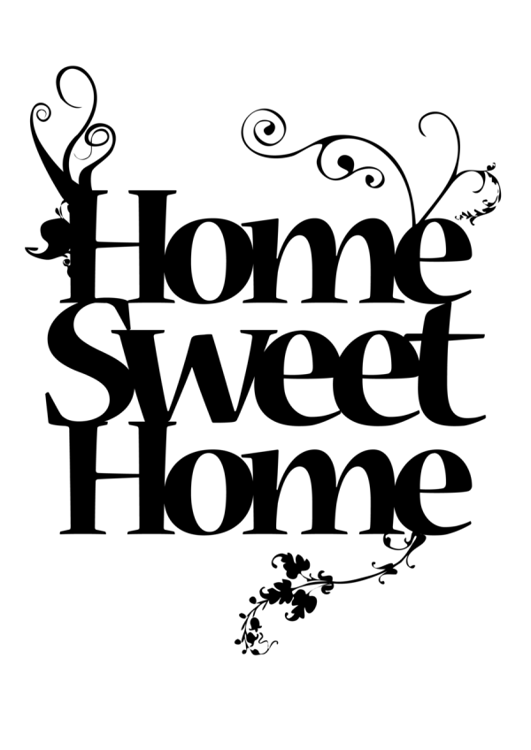 home sweet logo clipart