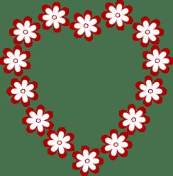 border clipart horizontal flower clip flowers heart clipartpanda borders floral frame frames hearts terms valentine cute