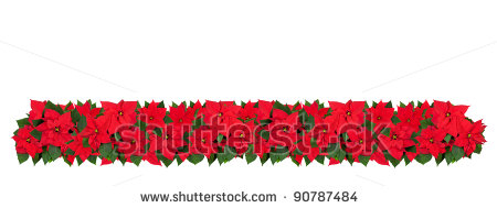 border christmas horizontal clipart flower poinsettia line borders clip cliparts flowers clipartpanda library clipartmag collection terms