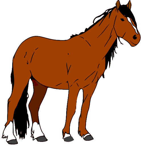 horse clip art black and white