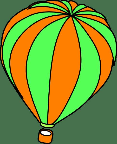 hot air balloon grey clip art