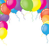 frame with balloons clipart