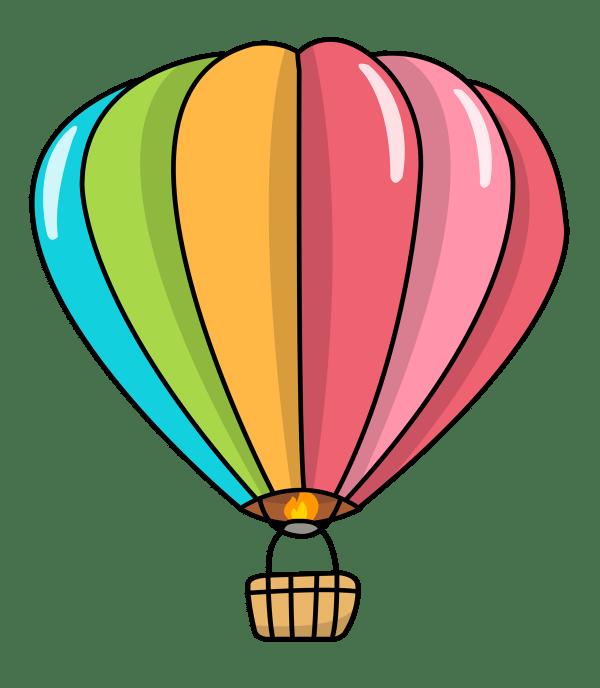 hot air balloon clip art black