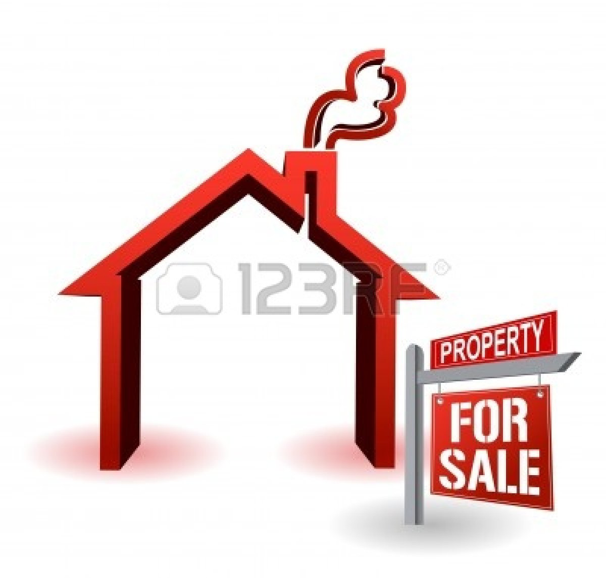 hight resolution of house for sale clipart