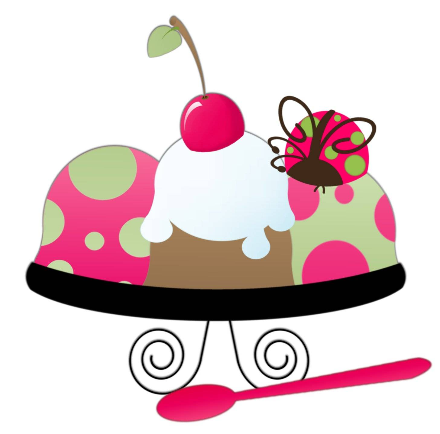 hight resolution of ice cream sundae clipart