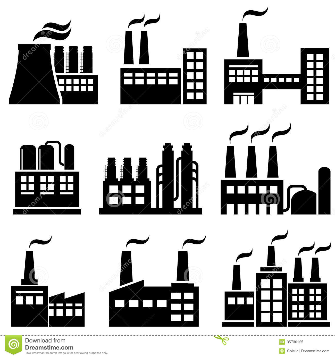 Industrial Buildings Clipart Panda