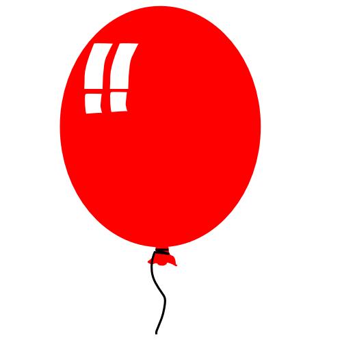 red balloon clipart panda