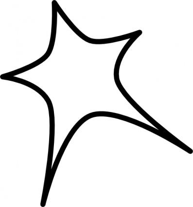 rounded star clip art outline