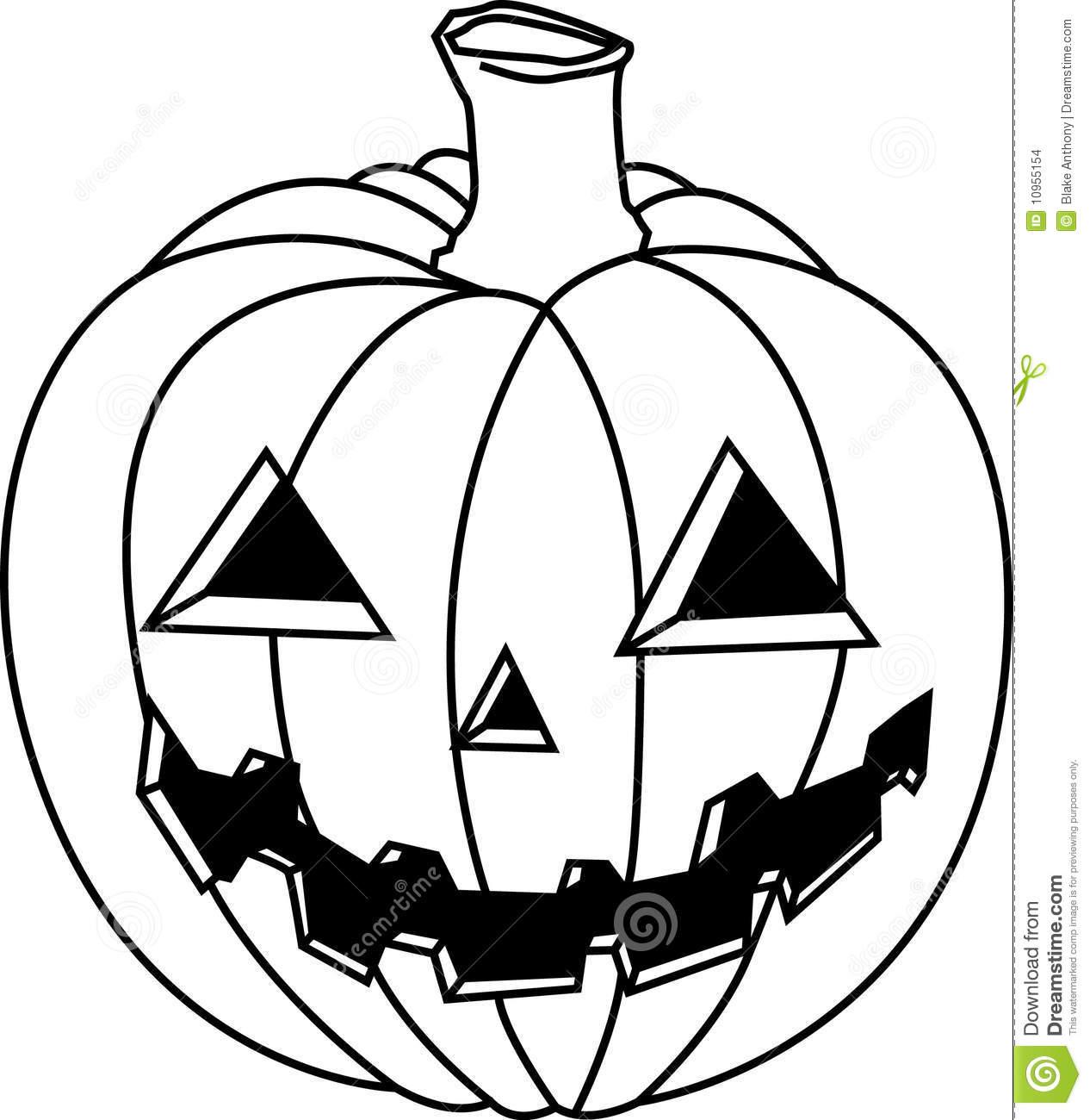 Jack O Lantern Clipart Black And White