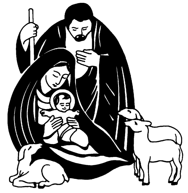 jesus clip art black and white