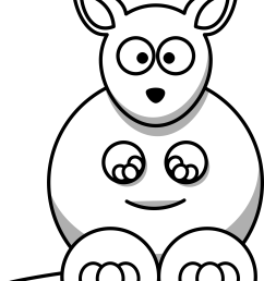 kangaroo clipart black and white [ 3333 x 3921 Pixel ]