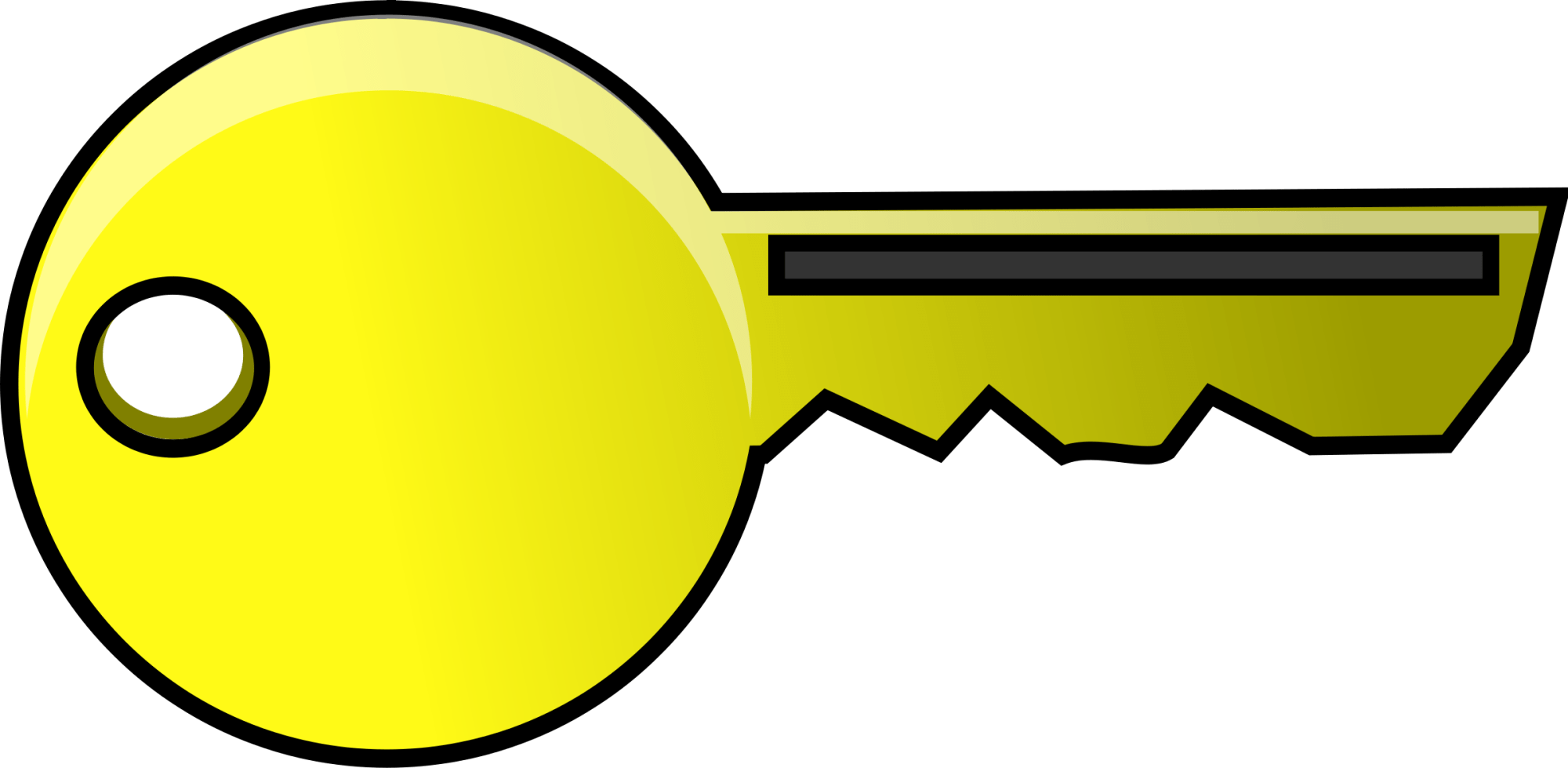 hight resolution of key clipart