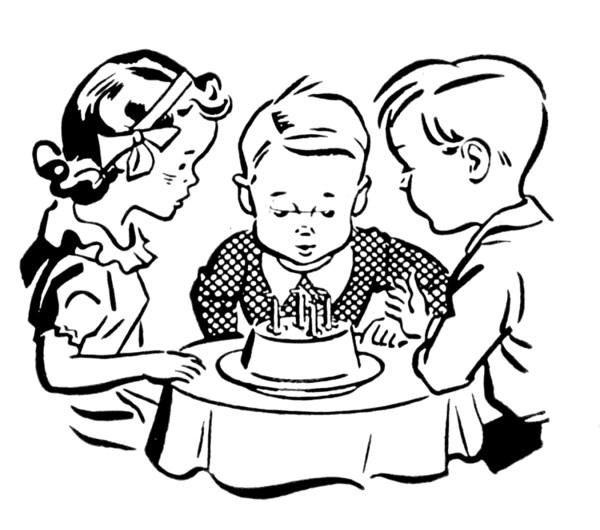 kids cooking clipart black