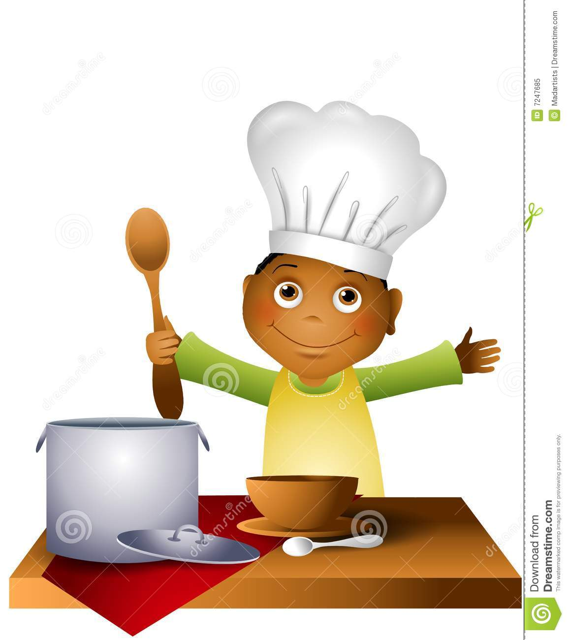 hight resolution of kids cooking clipart