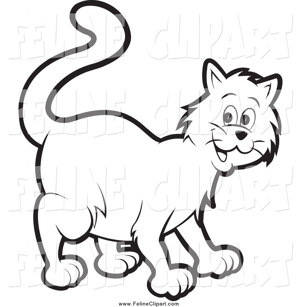 hight resolution of kitten clipart black and white