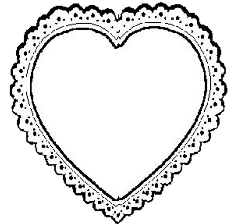 Lace Heart Clipart
