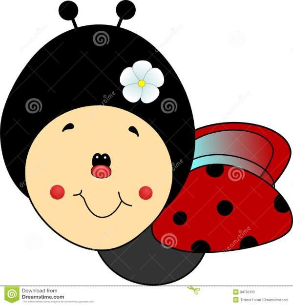 cute ladybug cartoon flying clipart