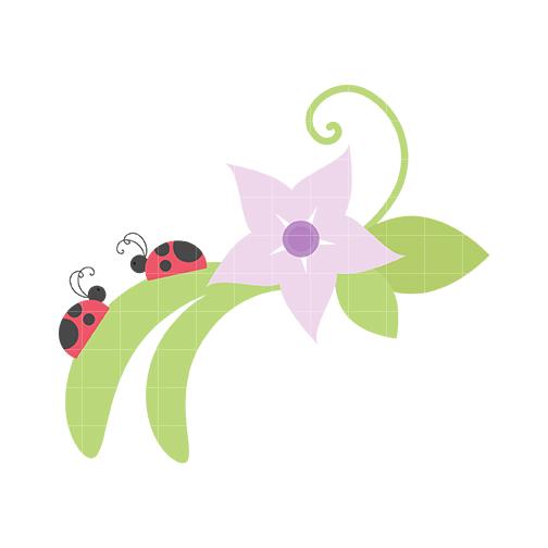 lady bug flower clipart panda