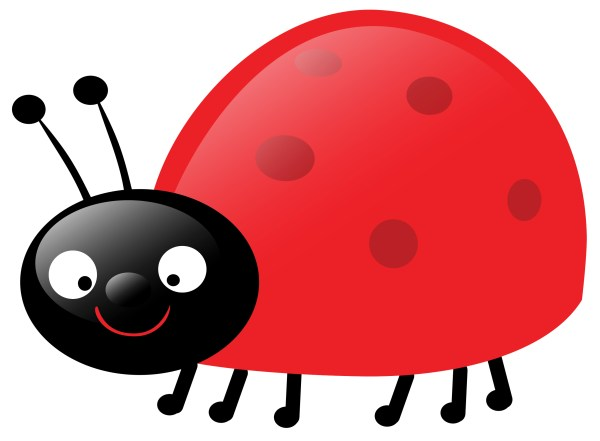 ladybug clipart black and white