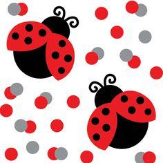 ladybug flower clipart