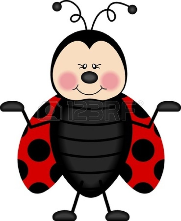 ladybug flying clipart panda