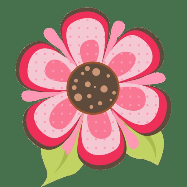 ladybug pink flower clipart