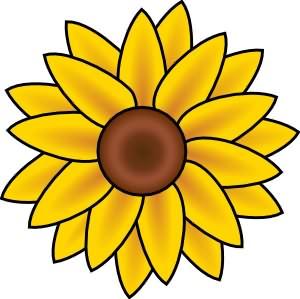 ladybug sunflower clipart