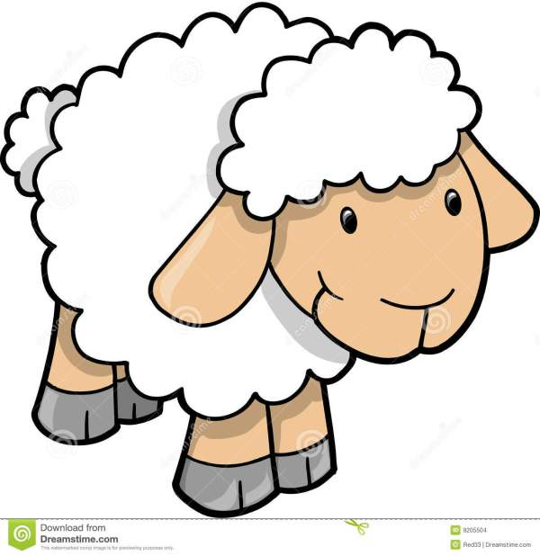 lamb clipart black and white