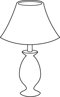 Lamp Clipart Black And White