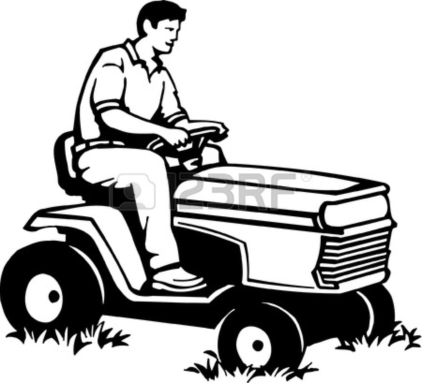 Lawn Mower Clipart Black And White Clipart Panda