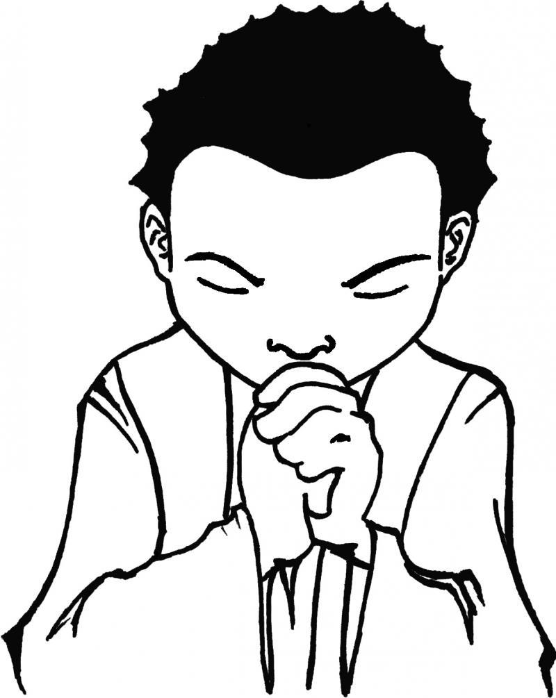 Children Praying Coloring Page Bible Sketch Coloring Page