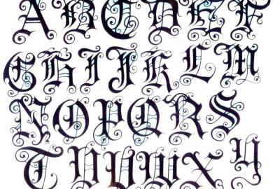 Tattoos Letter Designs