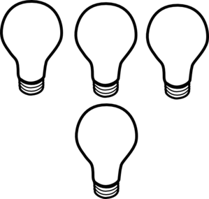 Idea Light Bulb Clip Art Black And White Clipart Panda
