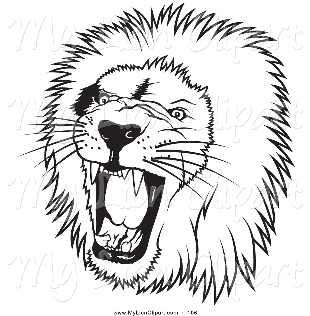 Lion Clipart Black And White Clipart Panda