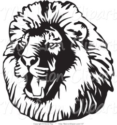 lion clipart black and white [ 1024 x 1044 Pixel ]