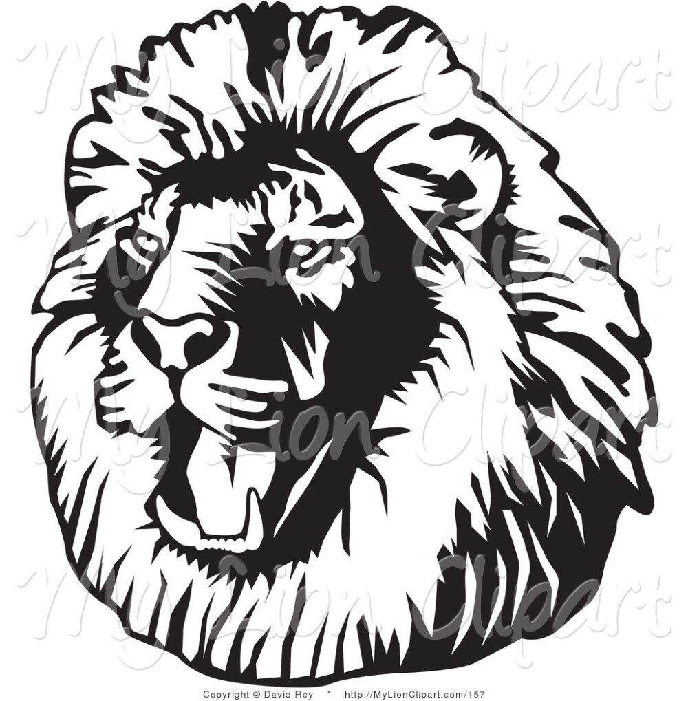 medium resolution of lion clipart black and white