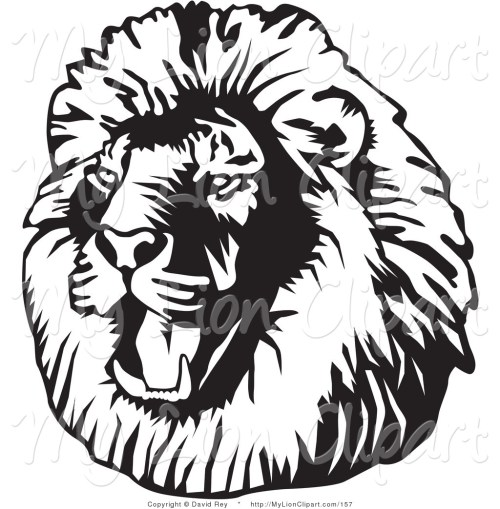 small resolution of lion clipart black and white