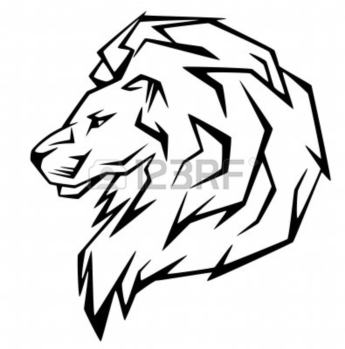 Roaring Lion Head Clip Art Clipart Panda