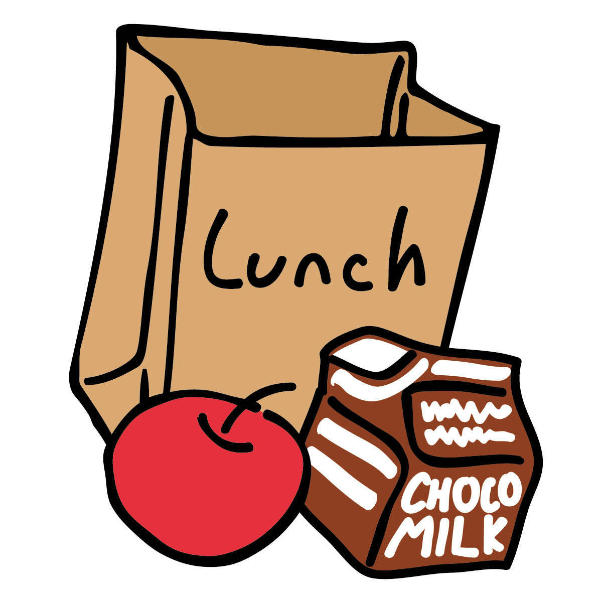 hight resolution of lunch clip art