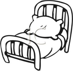 Outline Bed Clipart Black And White