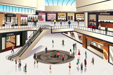 Shopping Mall Clipart