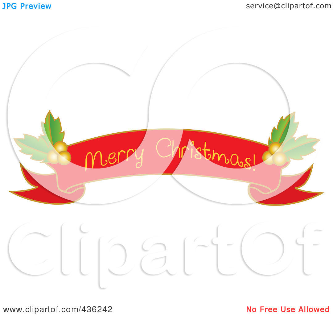 hight resolution of merry christmas banner clipart
