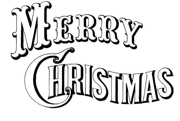 merry christmas clip art words