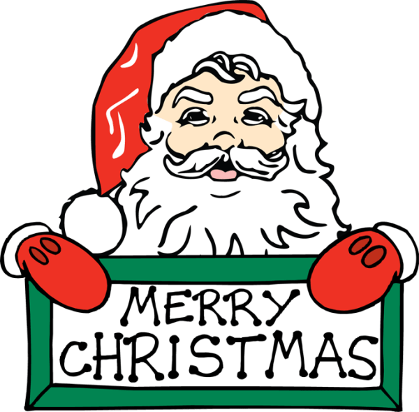 merry christmas clip art calligraphy