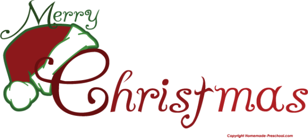 merry christmas clip art words
