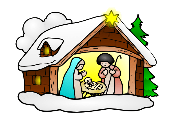 merry christmas nativity clipart