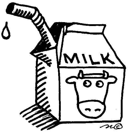 Milk Clipart Black And White Free Download