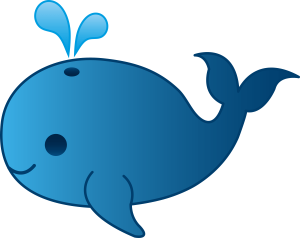 Mom And Baby Whale Clipart Panda - Free